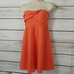 Asos   Coral Ruffle Tube Top Mini Dress EUC